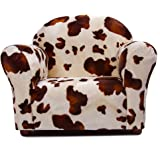 Keet Roundy Faux Fur Children's Chair, Pony