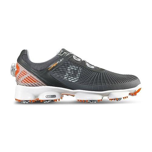 947d0fba27bb0 Footjoy Hyperflex® Zapatos de Golf Color Gris y Naranja Boa Fitting ...