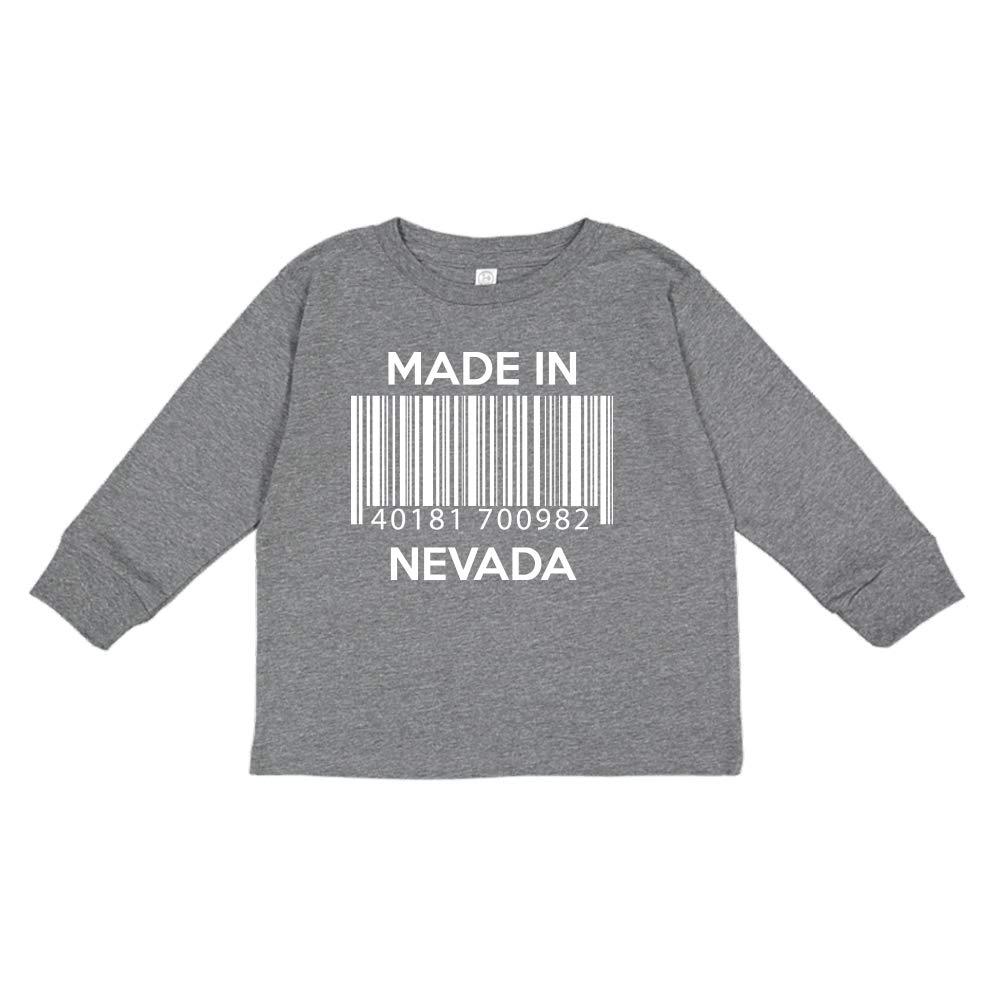 Barcode Made in Nevada Toddler//Kids Long Sleeve T-Shirt