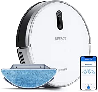 ECOVACS DEEBOT 710 Smart Robotic Vacuum Cleaner Smart Navi 2.0 for Scanning and Mapping Home Vacuuming and Mopping Compatible with Alexa With Wi-Fi Connectivity Ideal for Pet Hair Carpets Hard Floor Surfaces