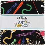 Crayola Art Box 5'' Stacker 42 5-inch Squares Charm Pack Riley Blake Designs 5-6620-42