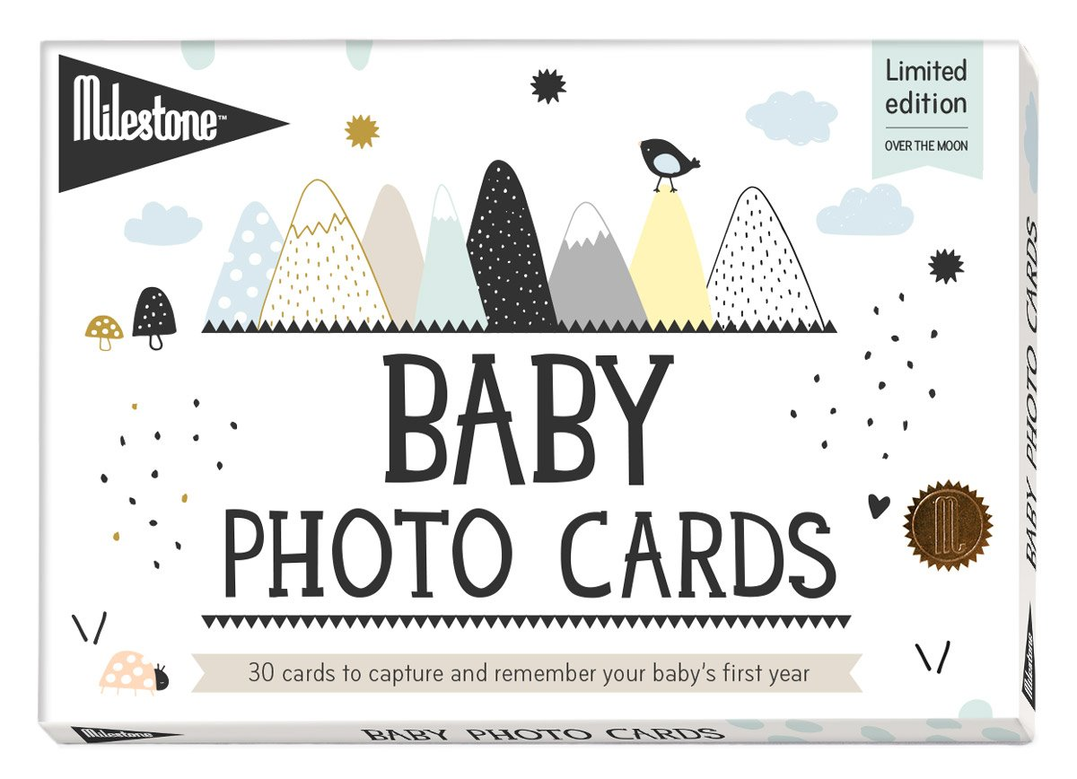 Milestone - Baby Photo Cards Original - Set of 30 Photo Cards To Capture Your Baby's First Year in Weeks, Months, and Memorable Moments MILESTONE Cards