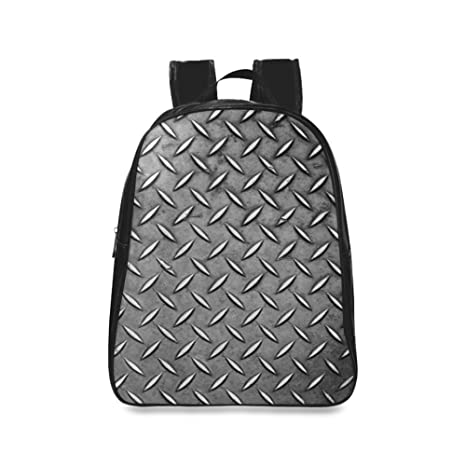 Amazon.com: Gris placa de metal Pattern Diseño Escuela ...