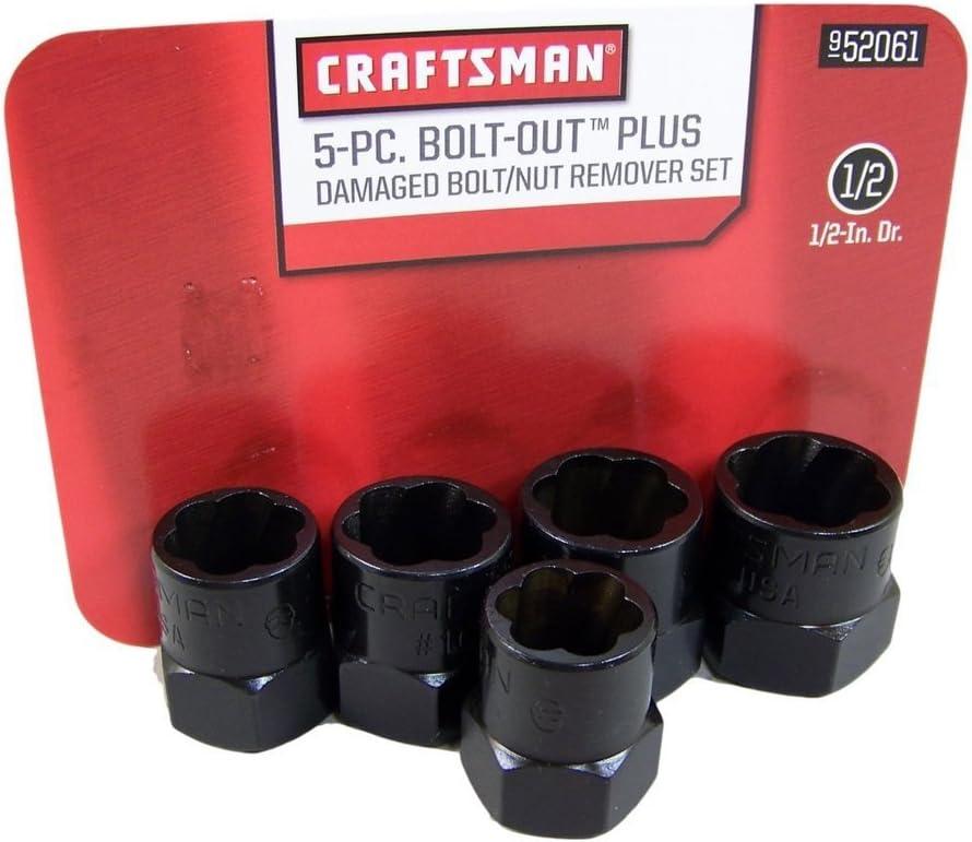 Craftsman Bolt-out 5 Piece Damaged Bolt/Nut Remover Set