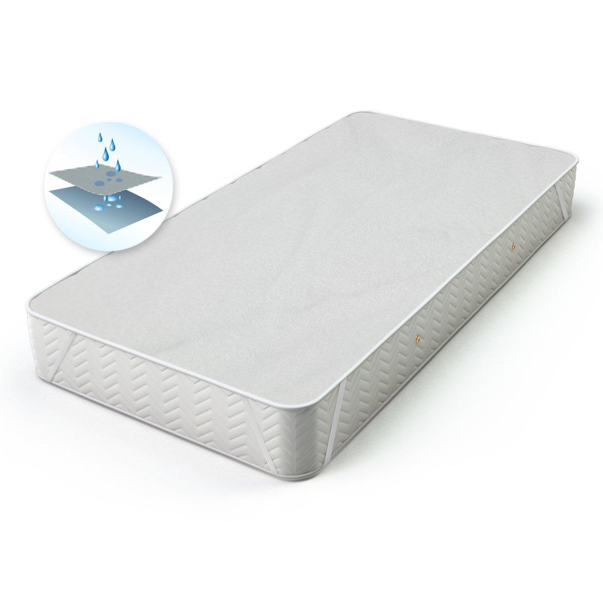 ECD-Germany Mattress Protection Waterproof 70x140 cm Washable with Corner Rubs Washable 95° C 100% Cotton ECD Germany