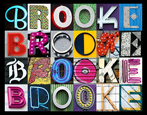 Brooke Personalized Name Poster Using Sign Letters