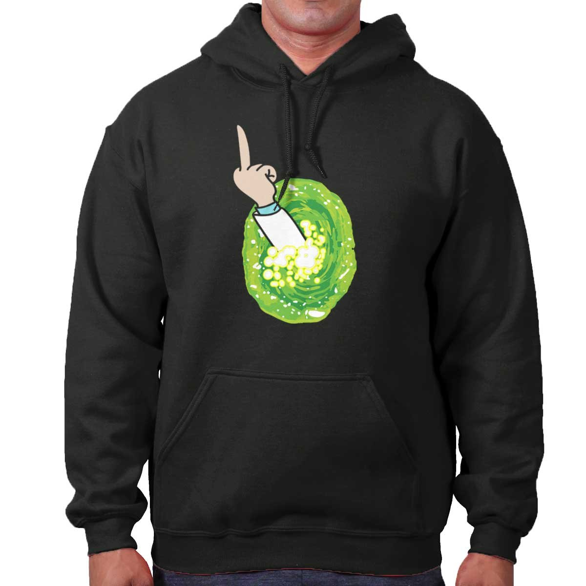 Brisco Brands Portal Rick Sanchez Schwifty Cool Funny Morty GLIP Glop Edgy Hoodie Sweatshirt