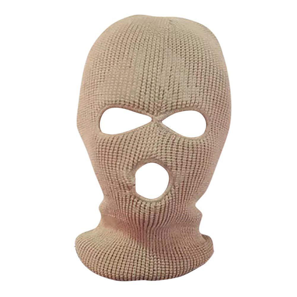 yanbirdfx Army Tactical Winter Warm Ski Cycling 3 Hole Balaclava Hood Cap Full Face Mask - Khaki