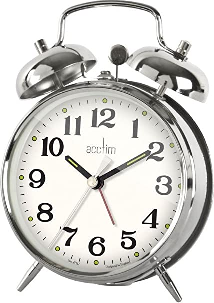 Acctim Selworth Classic Wind Up Twin Bell Bedside Alarm Clock