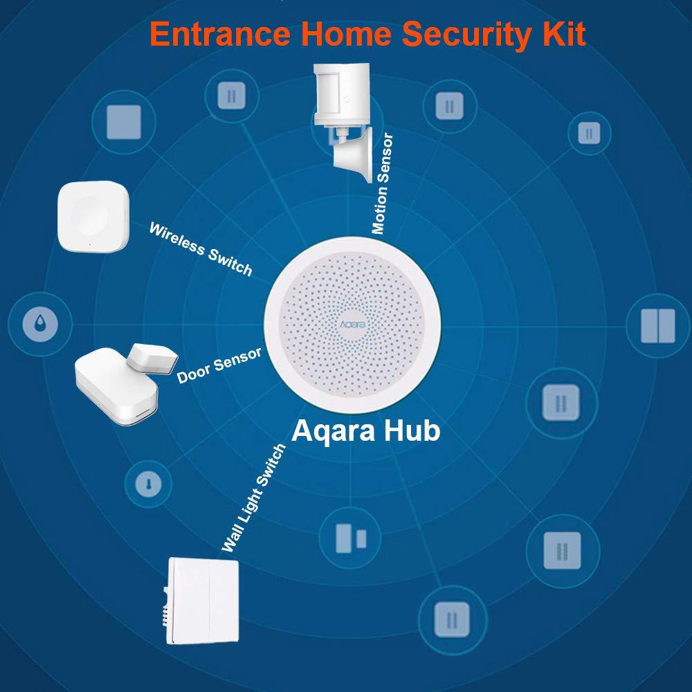 Aqara Temperature Humidity Sensor Aqara Smart Home Automation Zigbee Alarm System Devices Compatible with Apple HomeKit and Mi Home APP