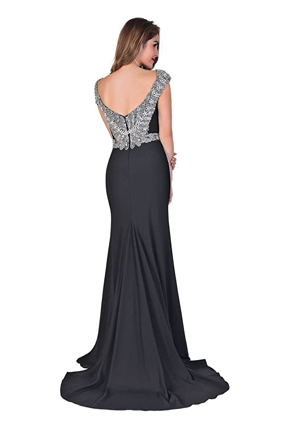 Amazon.com: Chic Belle Long Prom Dresses Womens Black Formal Evening Gowns Backless 2017: Clothing