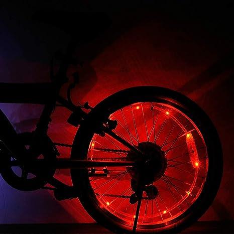 MENGZHEN 1 Pieza de Luces LED para Rueda de Bicicleta con Pilas ...