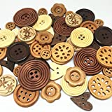 Rosey's Craft Shop's Special Edition of Natural Luxury Wood Mix Embellishment Buttons