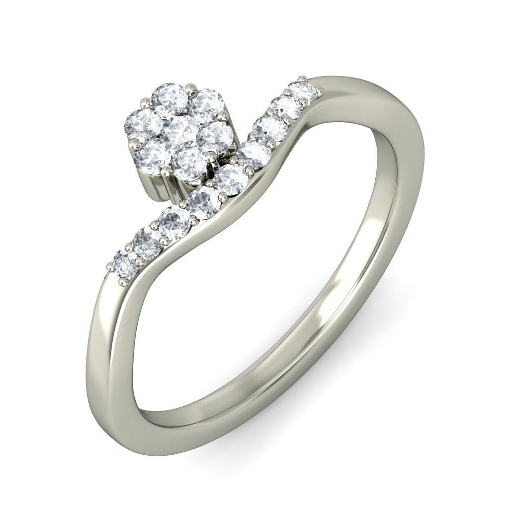 14K White Gold (HallMarked), 0.26 cttw Round-Cut Diamond (IJ | SI ) Diamond Engagement Wedding Ring Size - 10