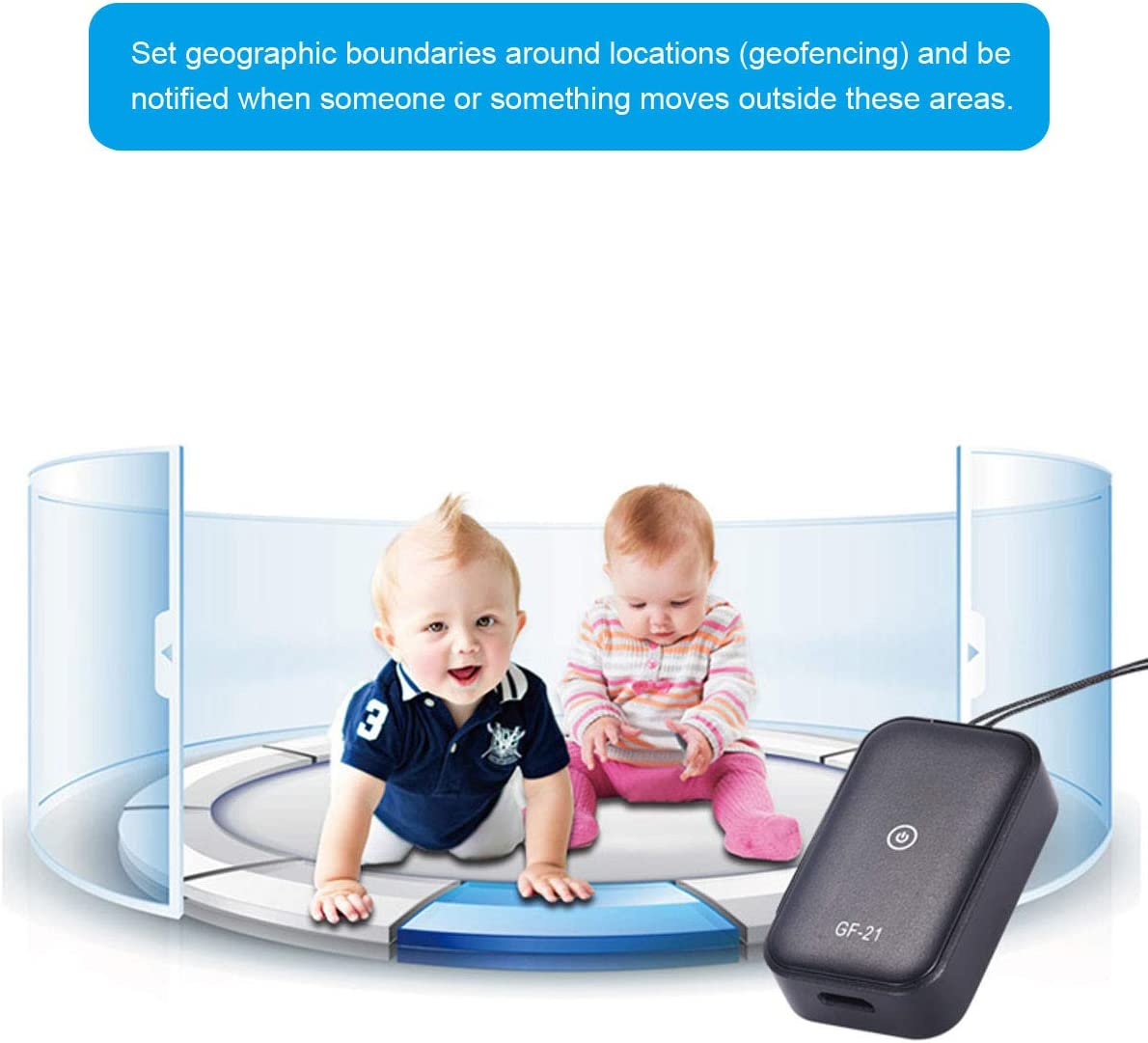 GPS Tracker SIKVIO Mini Portable Car GPS Tracker with SOS Locator Hidden Track Finder Real-time Tracking Device for Vehicle Kids Cat Dog Key Motorcycles Bike