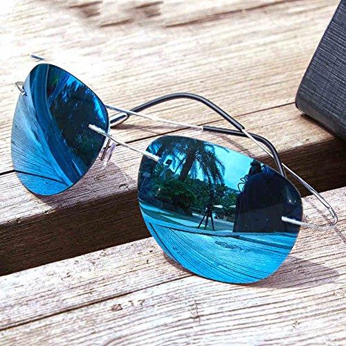 ultra Silver Frameless Gold dédiées Unisexe Couleur Polarized de Lunettes Lunettes Blue la HONEY légères à conduite de titane en soleil Blue pêche qURgwtx87