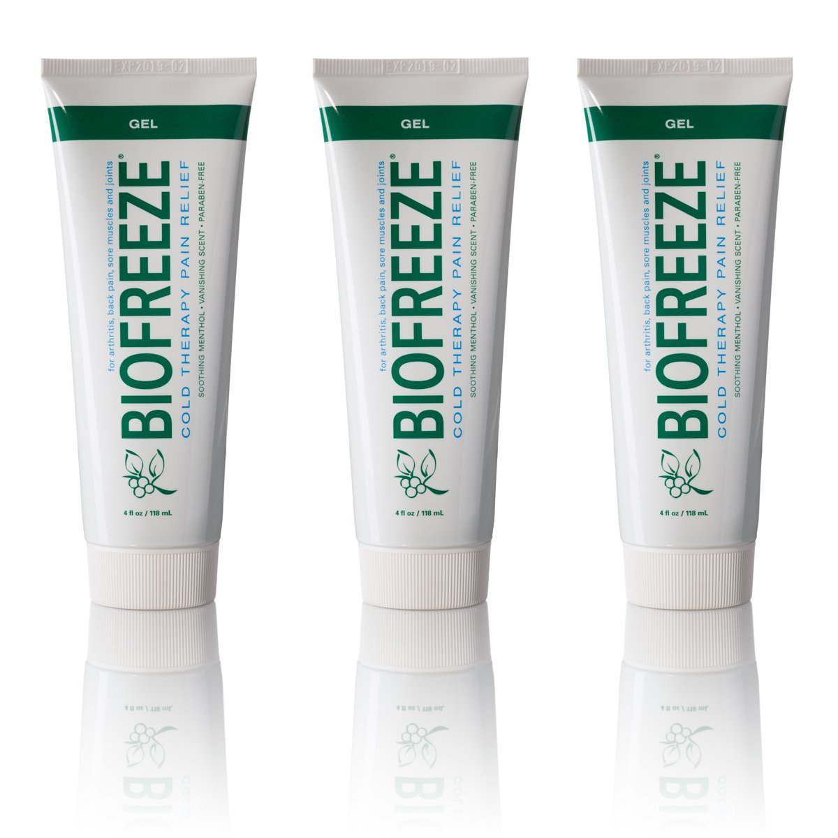Biofreeze Pain Relief Gel, 4 oz. Tube, Pack of 3 by Biofreeze