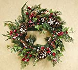 CWI Gifts Pepperberry and Cedar Wreath, 20-Inch