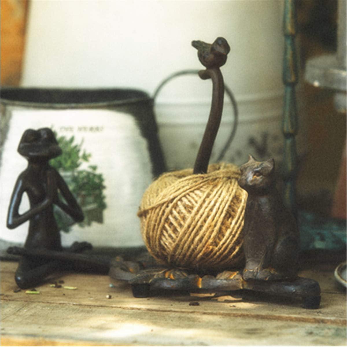 dise/ño Vintage sin Agujeros Vogel//Katze TentHome Portarrollos de Cocina de Hierro Fundido para Rollo de Cocina
