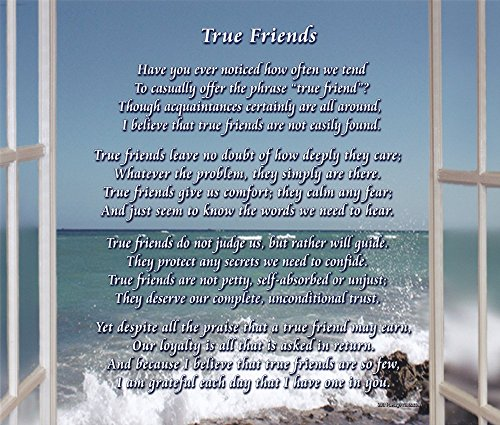 True Friends - Poem Print (8x10) - Beautiful Friend Gift for any Occasion (True Friendship Poems Best Friends)