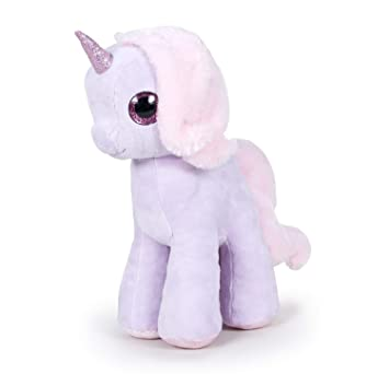 Peluche Unicornio color lila 18 Cm