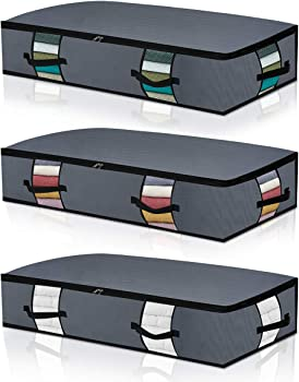 3-Pack Herneat Large Under Bed Storage Bag Containers