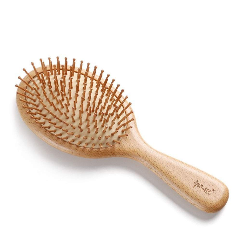 Drametree Massage Comb Hair Comb Wooden Comb Wooden Handle Household Airbag Cushion Comb Air Cushion Comb Reduce Frizz And Massage Scalp Birthday Present (portable) Trumpet (Size : M) by Drametree