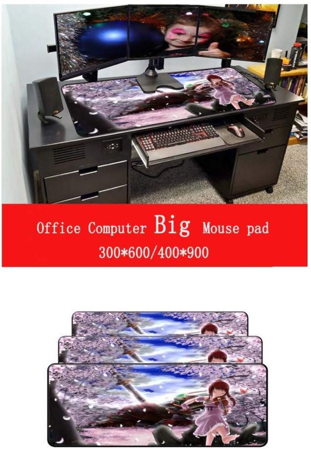 WHFDSBD Anime Girl Play Violin Large Mouse Pad Anti-Slip Natural Rubber Computer Gaming Mousepad Desk Mat