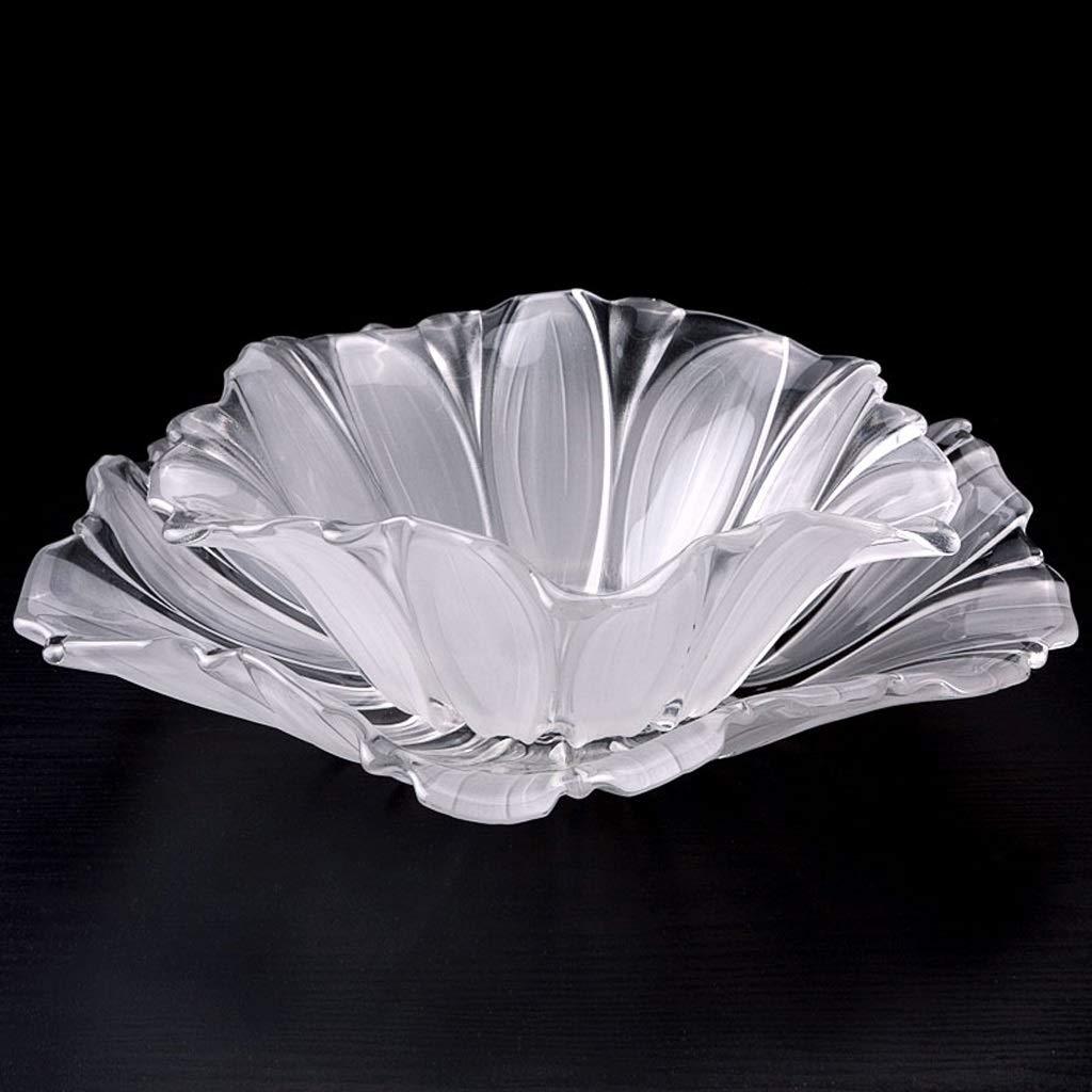 PLL クリエイティブヨーロッパスタイルクリスタルホワイトグラスフルーツボウルリビングルームコーヒーテーブルホームフルーツプレート   B07JQQPNQ3