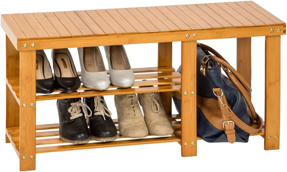 68x25x41cm | Nr. 401651 Diverse Modelle TecTake Schuhregal aus Bambus Holz
