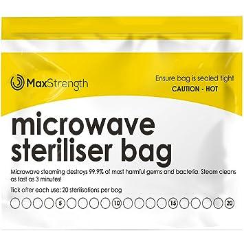Bolsas de Esterilizador de Microondas Paquete de 20pc Premium de ...