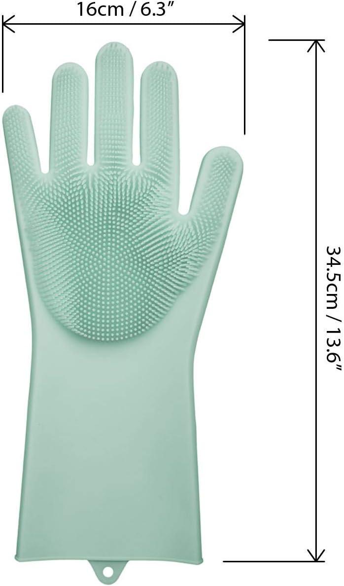 Gant Vaisselle en Silicone Gants Cuisine R/éutilisables Gants Nettoyage R/ésistant /à la Chaleur Nettoyage Maison Main droite Gants Vaisselle iGadgitz Home U6955 Turquoise