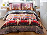 Bednlinens 3d Quilted 3-piece Modern Sports Car Bedspread Coverlet King (06)