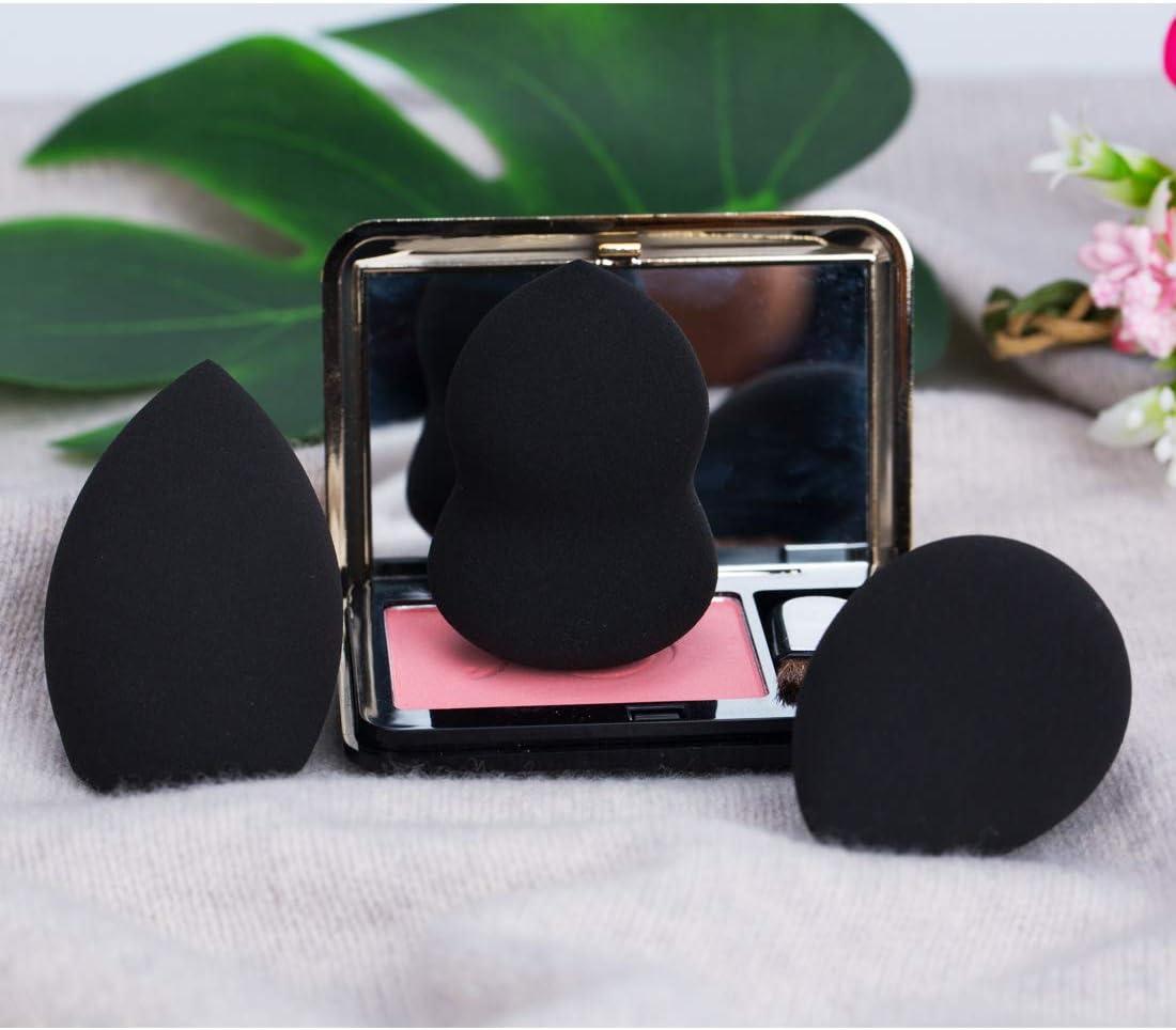 Esponjas de maquillaje Set de 3, Microfiber Sponge,de Ruesious sin látex, Makeup Esponjas para corrector, Crema, Colorete, Liquid Base De Maquillaje. (Negro): Amazon.es: Belleza