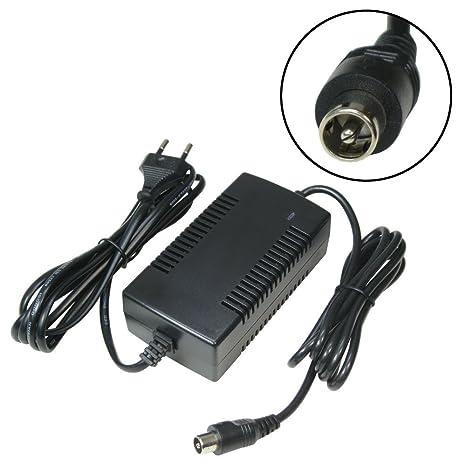 Trade de Shop Cargador Cable de carga 42 V 2 A para baterías de 36 V con 10,45 mm x 8,50 mm 1pin de conector conector para E-Bike Pedelec bicicleta ...