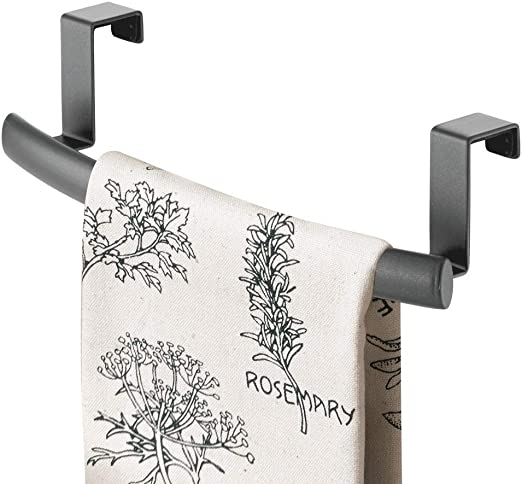 OVER DOOR KITCHEN TEA TOWEL DISHCLOTH HOLDER HOOK RAIL STAINLESS STEEL