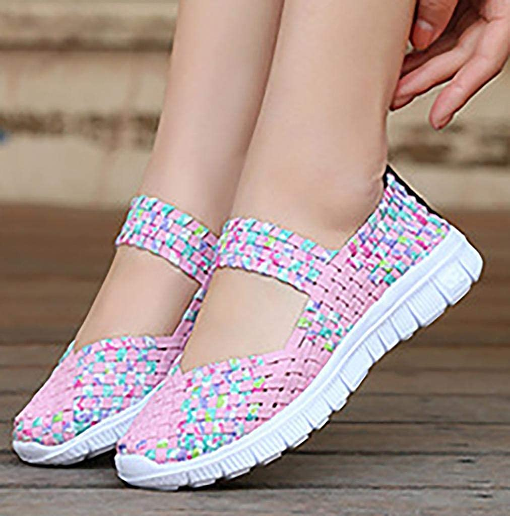 Womens Comfortable Wide Casual Slip On Loafers Flat Walking Shoes Size UK 3-7.5