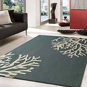 beautiful unique floral blue area rug now on sale black friday sale kitchen dining. Black Bedroom Furniture Sets. Home Design Ideas