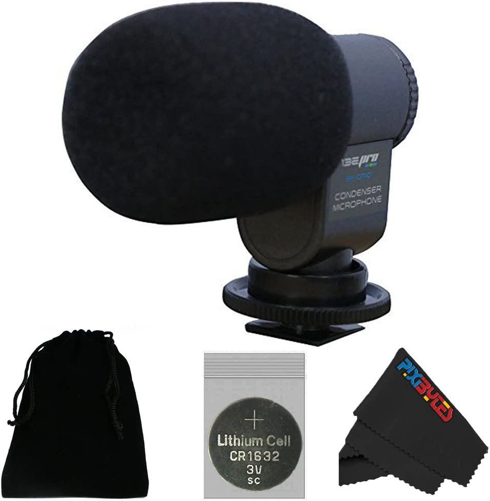 Grey I3ePro BP-CMIC1 X-Series Mini Shotgun Condenser Microphone for Panasonic Lumix DMC-FZ3 Digital Camera