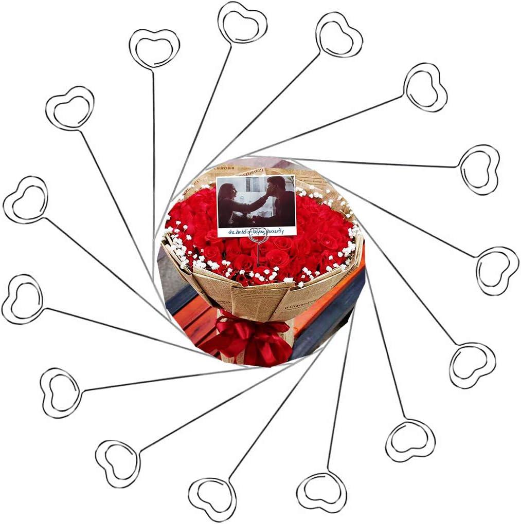 50 St/ück Fotohalter halter Tischkartenhalter Herz Form Memo Clip Namenskarten Halter Platzkartenhalter f/ür Geburtstags Party Dekor//B/üro Klipp Gebrauch