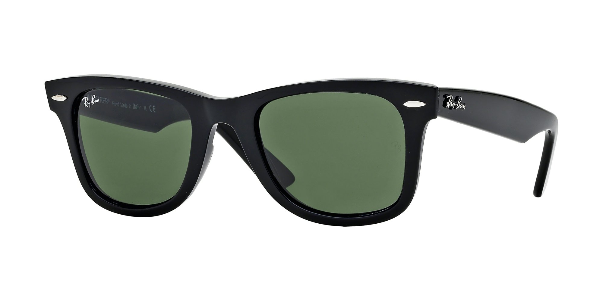 Ray Ban RB2140 WAYFARER 901 54M Black/Crystal Green Sunglasses For Men For Women by Ray-Ban