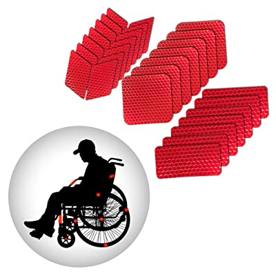 Muchkey Self-Adhesive Reflective tape Stickers Waterproof High Visibility Safety Warning Tape Stickers for Roller Skates bicycle motorcycle baby strollers DIY home decoration Red: Automotive