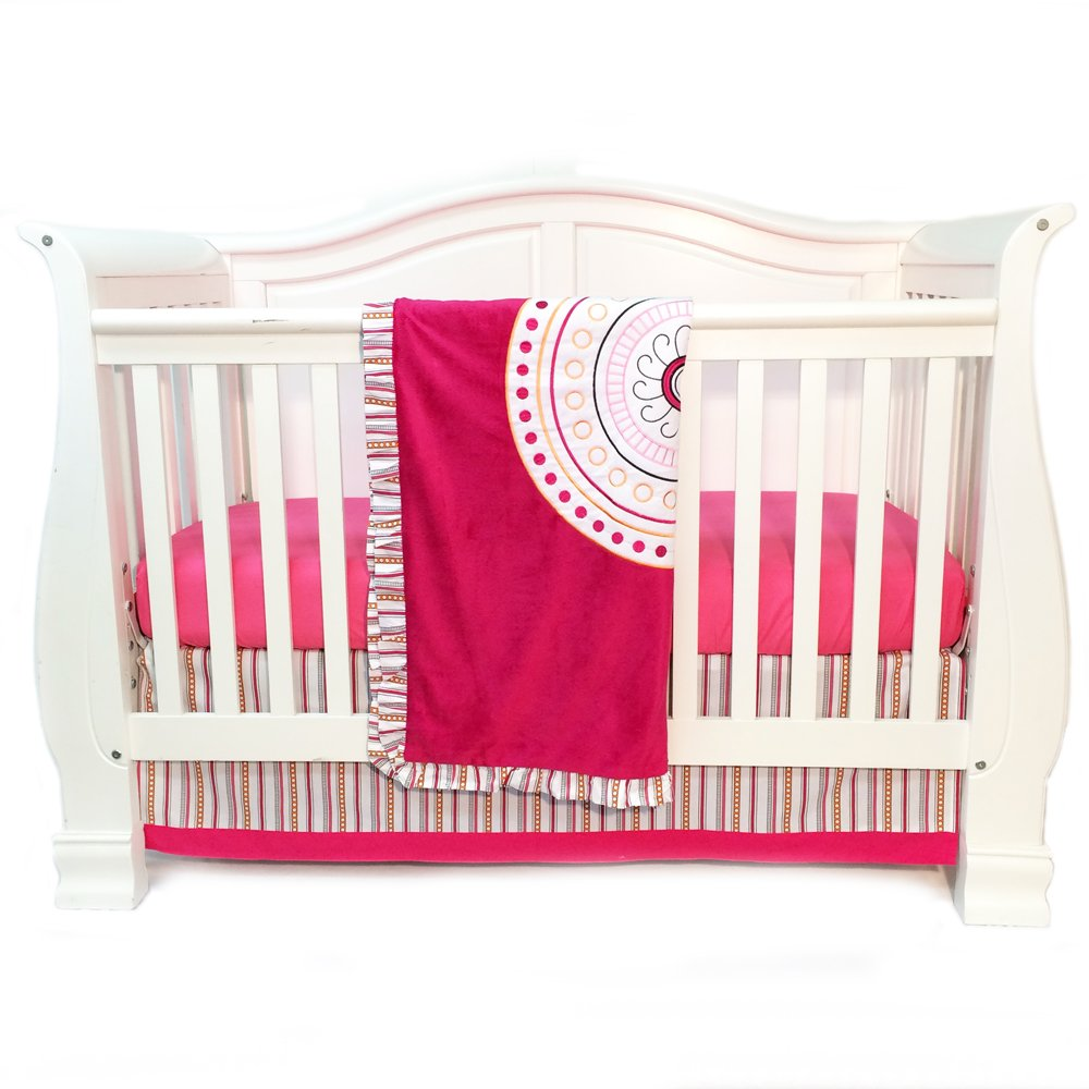 One Grace Place Sophia Lolita Infant Crib Bedding Set, White/Pink/Berry/Orange by One Grace Place   B00BUXKTH0