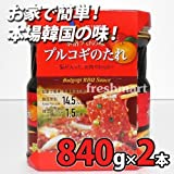 CJコープ プルコギ 韓国風焼肉のタレ 840g×2個