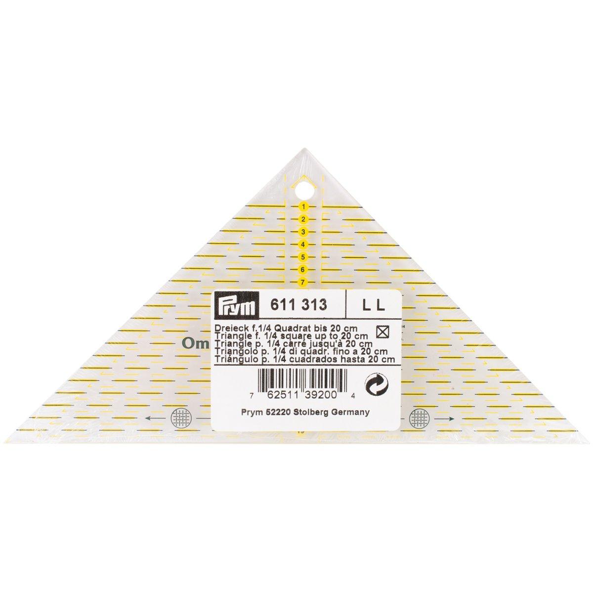 Prym - Triangolo svelto con scala in cm, per un quarto di quadrato, fino a 20 cm R920