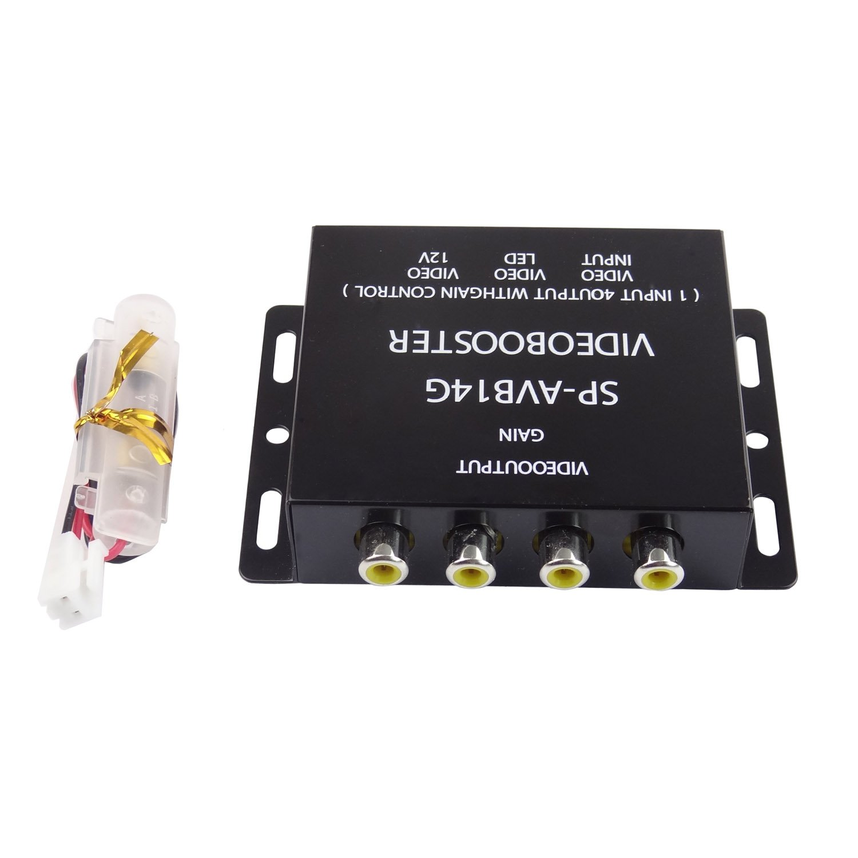 Hanperal 1 to 4 Car DVD LCD Tv Monitor Video Amplifier Booster Distribution RCA Splitter