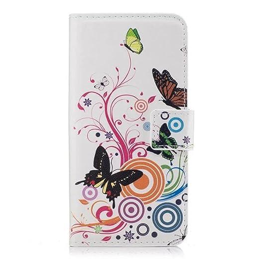 7 opinioni per HUANGTAOLI Custodia in Pelle Portafoglio Flip Case Cover per Huawei P8 Lite