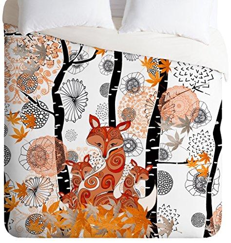 Monika Strigel Hello Foxy Duvet Cover, Queen by Deny Designs