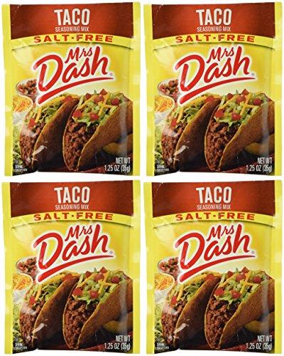 Mrs Dash Salt Free Taco Seasoning Mix (1.25 oz Packets) 4 Pack