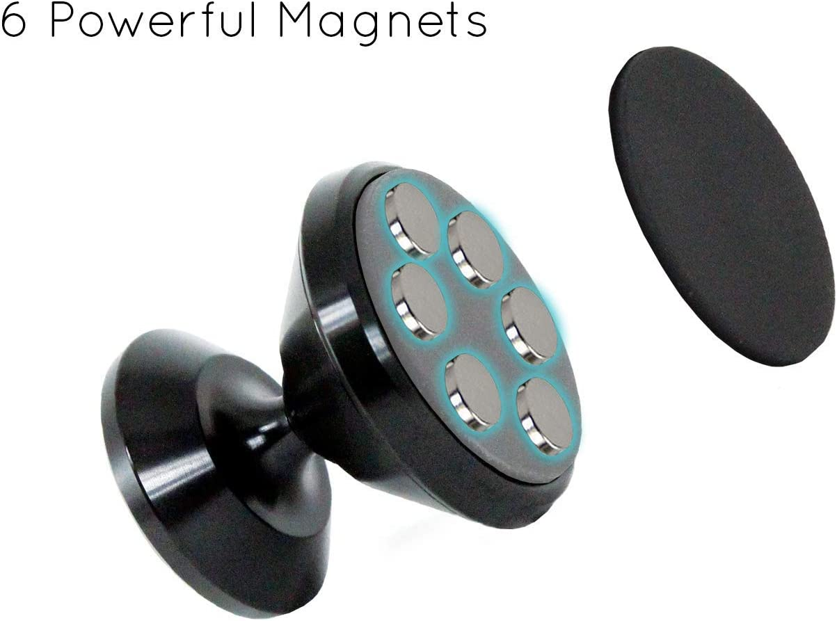Studio Laguna Magnetic Phone Mount for Flat Surfaces Silver Extra Strong Support.